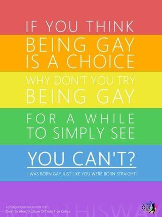 Gay as a choice